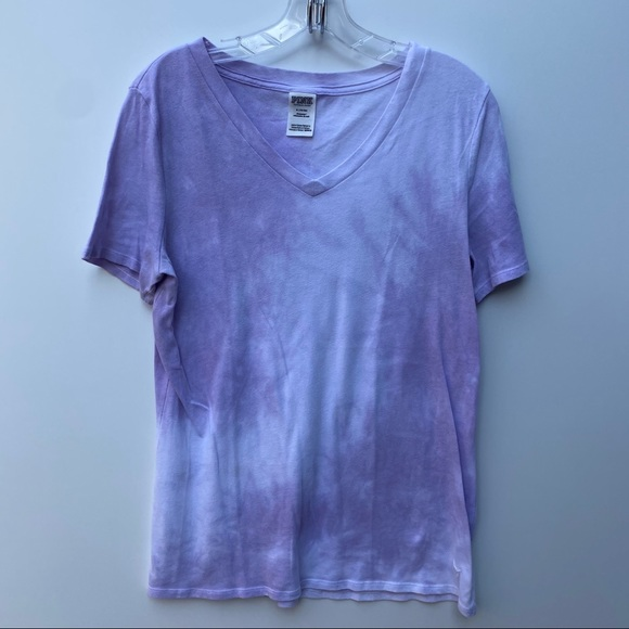 PINK purple tie dye t shirt